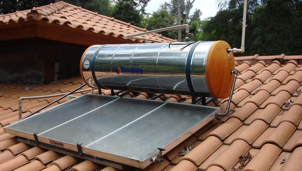 Solar water heating - Photo by Jorge Lopes