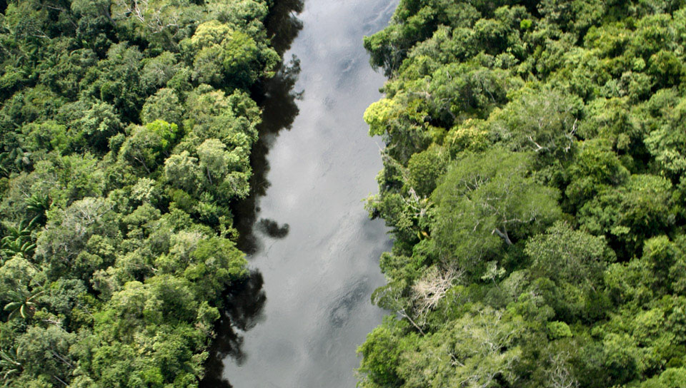 Aerial view of the Cristalino River - Photo by Edson Endrigo