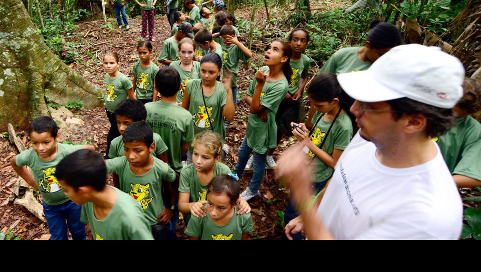 Educational activities in the forest - Photo by Edson Grandisoli