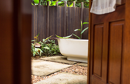 Privacy in an outdoor environment