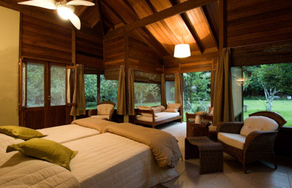 Spacious bungalows and sophisticated décor